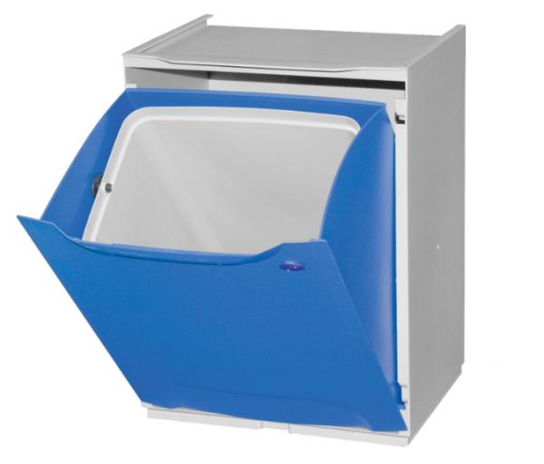 Cubo de reciclaje apilable azul
