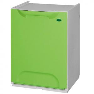 Cubo de reciclaje apilable verde