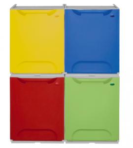 Cubo de reciclaje apilables